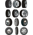 car wheels set vector image vector image