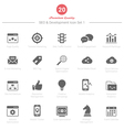 Set of SEO and Development icons Set 1 vector image