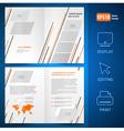 booklet design template catalog brochure lines vector image vector image