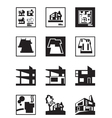 Stages of construction of building vector image