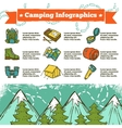 Camping Infographics Sketch vector image