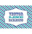 Striped background blue vector image