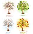 set of season vector image vector image