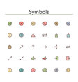 Symbols Colored Line Icons vector image vector image