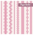 Baby shower set of border for girl vector image vector image