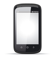 Realistic smartphone with blank screen vector image vector image