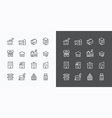 Buildings Collection icons set flat line design fo vector image