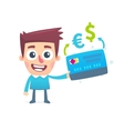 Currency conversion in the online bank vector image