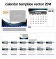 Desk calendar template 2014 vector image
