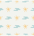 flat color seamless summer sun pattern vector image