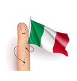 italy flag at finger man vector image
