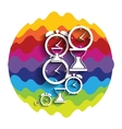 Modern Flat Time Management Rainbow Color Icon for vector image