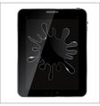 Splash glass on abstract tablet vector image