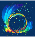 multicolored round abstract element on dark backgr vector image vector image