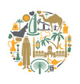 arab emirates travel sightseeing icons and vector image