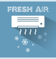 air conditioner cooling icon with text vector image