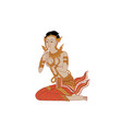Thai traditional painting vector image