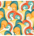 Abstract seamless swirl pattern vector image vector image