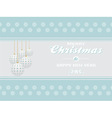 Merry Christmas on light blue landscape background vector image
