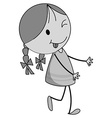 Smiling girl in black and white vector image vector image