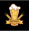 beer glass mug icon for brewery bar pub or vector image