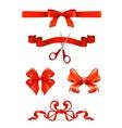 Bows and ribbons set vector image
