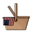 celebrate labor day with american flag in basket vector image