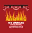 Fire Sprinkler Life Safety vector image