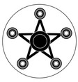 hand spinner in the form of a star vector image