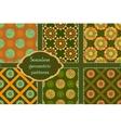 Khaki and orange circle pattern ornament vector image