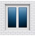 plastic window vector image