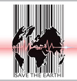 Save The Earth With Barcode Scanning Ecology vector image