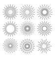 set of sunburst geometric shapes stars and light vector image