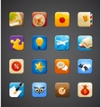 collection of apps icons vector image vector image