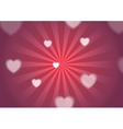 St Valentines Day background with hearts vector image vector image