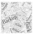 Online Data Backups Word Cloud Concept vector image