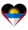 Antigua and Barbuda flat heart flag vector image