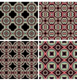 Set of Seamless Colorful Retro Pattern Backgrounds vector image