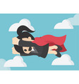 super business woman business concept cartoon vector image