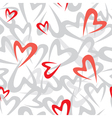 stilized heart pattern vector image