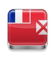 Metal icon of Wallis and Futuna vector image vector image