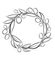 Olive wreath frame vector image vector image