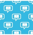 Mediaplayer message pattern vector image