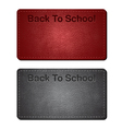 back to school cards vector image