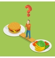 Health or junk food isometeric vector image