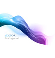 wave neon light white curve blue vector image vector image