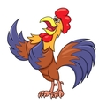 Rooster singing a song vector image