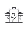 batteryenergy power line icon sign vector image