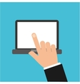 fingers touching device icon vector image