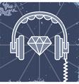 Headphones jewel icon vector image